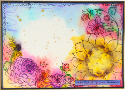 Mixed Flowers Card - Everything Has Beauty