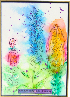 Stalk Flowers Card - Everything Has Beauty